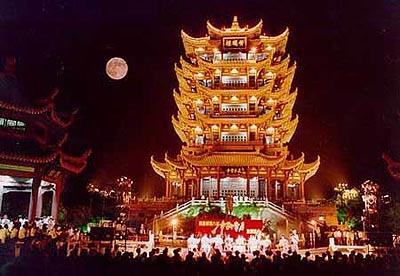 武汉标志性建筑手绘图