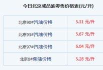 2016北京油价调整最新价格表