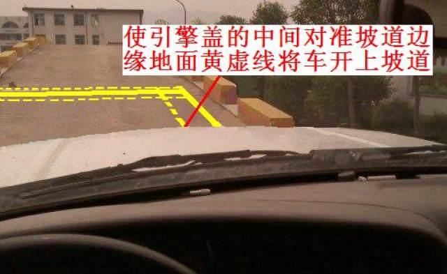 坡道定点停车和起步技巧