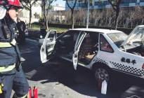 经验交流:突发|浦东新区一教练车自燃 损毁严重