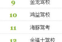 2014北京驾校排行榜