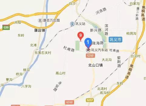 长垣到鹤壁市地图
