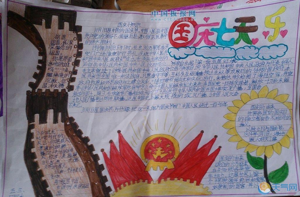 国庆节手抄报图片大全:新中国成立以来,在国庆庆典上共进行过14次阅兵