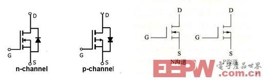 nmosfet 与pmosfet电路符号