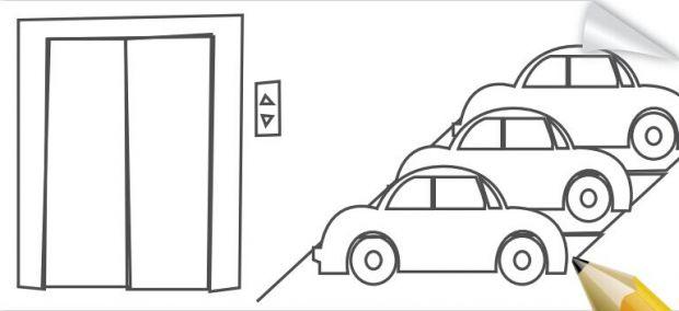 电梯简笔画步骤图