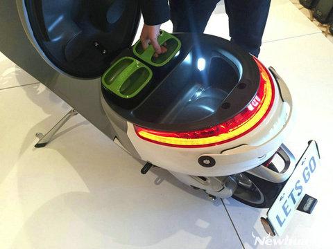 gogoro智能电动踏板车能与智能手机配对,如此一来用户就能用手机控制