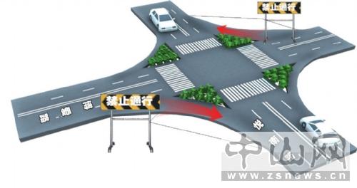 十字路口机动车由南向北右转弯,电动车在逆行车道从东