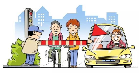 发挥余热的交通志愿者们图片