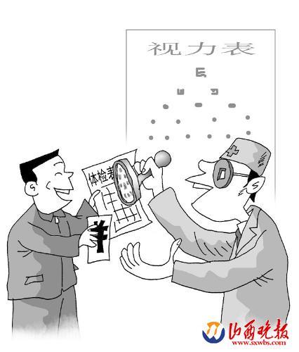 卡通幼儿体检简笔画