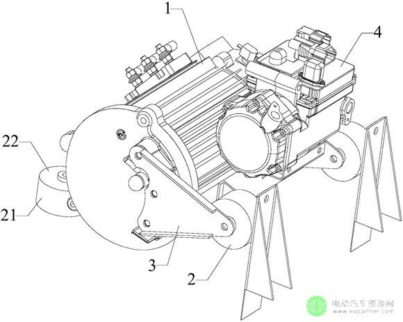 空调驱动装置减震安装结构,所述电动汽车的空调驱动装置减震安装结构