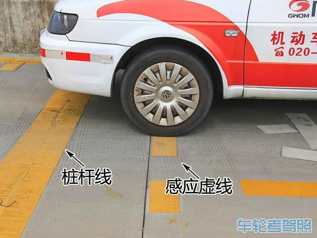 昨天考的科二,挂了,单子上写的汽车前保险杠未定于桩杆...