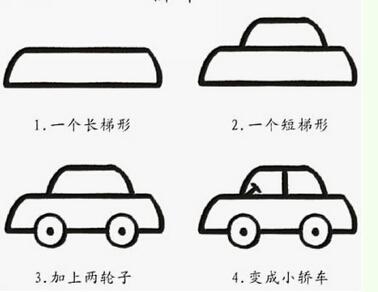 小汽车怎么简画