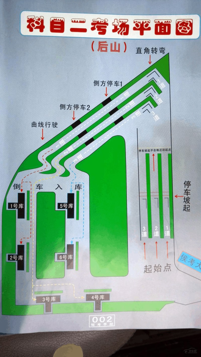 探秘!福州黄山后山科目二高清考场图
