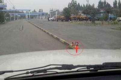 学车驾考靠边停车30公分对点技巧