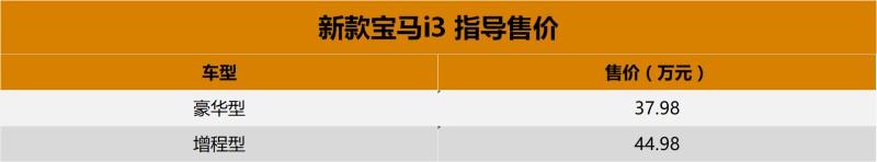 售37.98万起 新款宝马i3上市