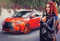 换个颜色后妹子就排着队上车,这辆橙色的NX300H骚气十足!
