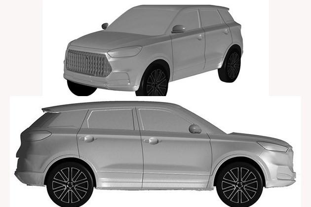 长城全新SUV车型专利申报图或为新款H6Coupe车型