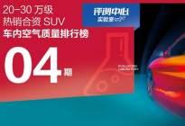 20-30万级 热销合资SUV空气质量排行榜