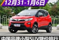 比亚迪元降1.31万 中国小型SUV降价排行