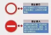 這些必考的交通標志題,90%的人都會混淆。