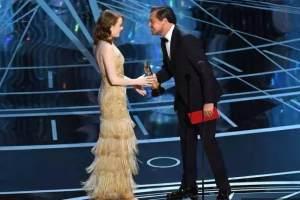 小李子昨天在奥斯卡颁奖没来现场,但秦唐换标已够迪粉们嗨一年了