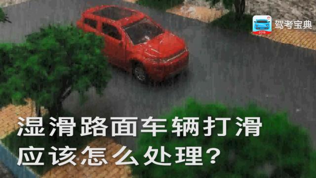湿滑路面车辆打滑,应该怎么处理?