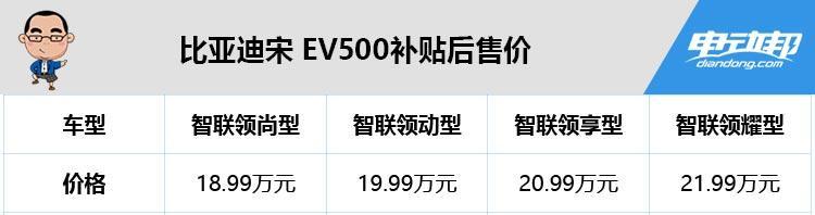 靠脸吃饭还是靠实力?比亚迪宋EV500哪款值得买?