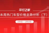 2月4日-2月10日热门车型价格走势分析(下)