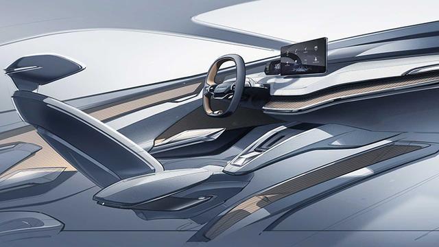 斯柯达发布电动轿跑VISION iV概念车内饰,量产车或2020年推出