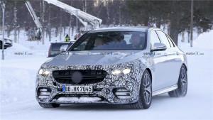 新款奔驰AMG E63谍照首次曝光,有望继续沿用V8引擎!