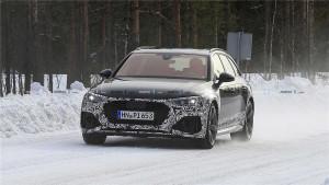 新款奥迪RS4 Avant谍照首次曝光,全新前脸+2.9T V6