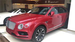 宾利添越W12,中国红配色,港口现车也不多