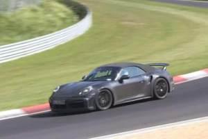 保时捷911 Turbo敞篷谍照 软顶设计/或2020日内瓦车展亮相