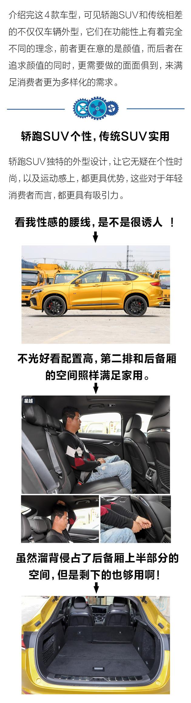 个性实用只能二选一 轿跑SUV和传统SUV该如何选?