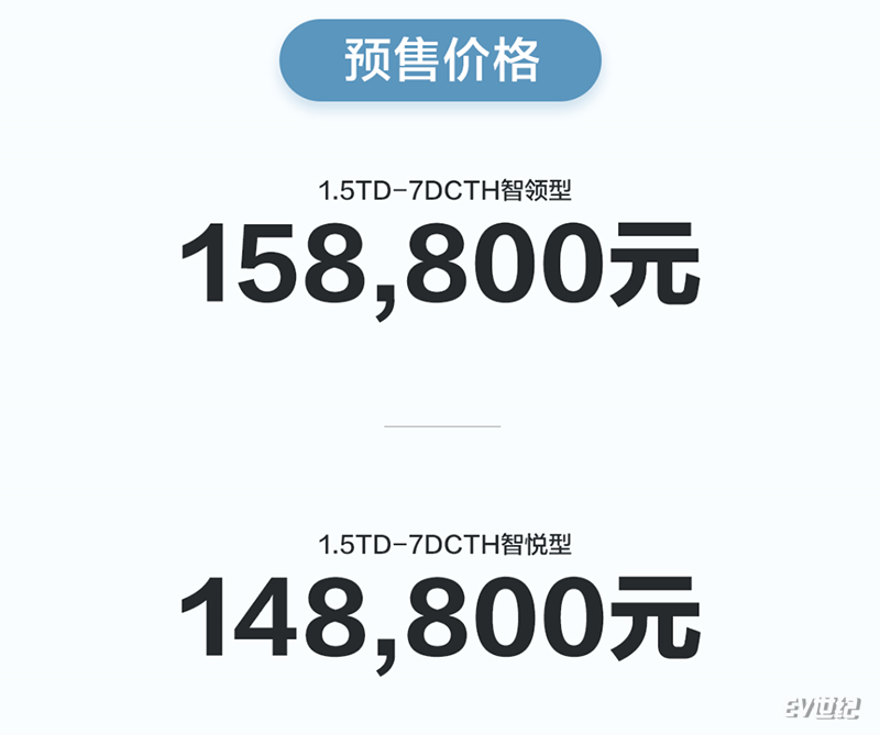 帝豪GL PHEV预售14.88万元起