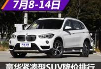 宝马X1降10.1万 豪华紧凑型SUV降价排行