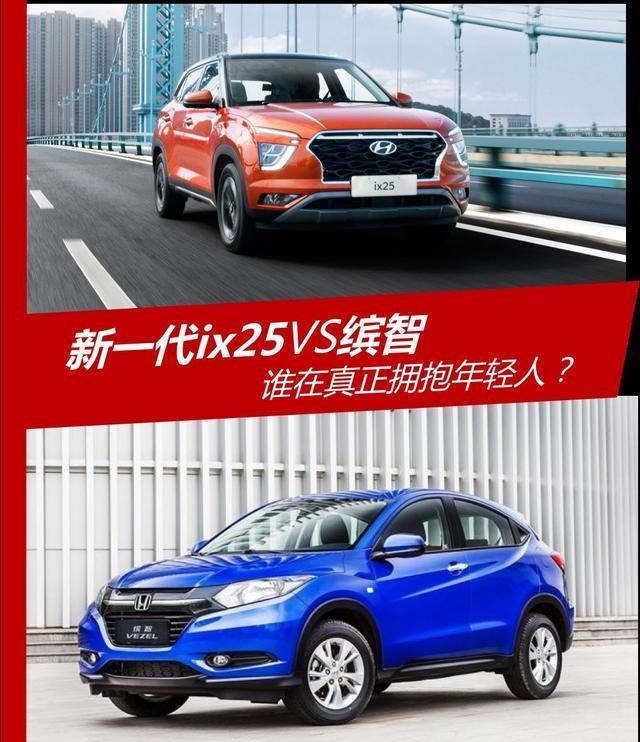 推荐:谁在真正拥抱年轻人北京现代新一代ix25VS本田缤智