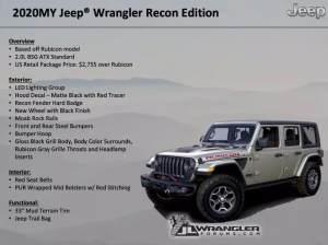 2020款Jeep牧马人Rubicon 将推特别版