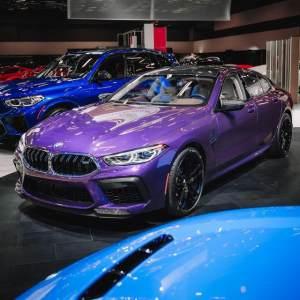 搭4.4T引擎,对标奥迪RS7,宝马M8 暮色紫车漆版实拍!