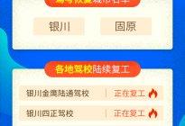 宁夏复考城市与复工驾校名单,快来查看!