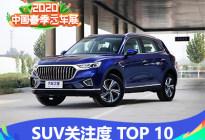春季云车展:用户关注最高的SUV TOP10