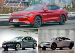 实车对比汉EV/Model3/P7,30万预算你会选谁?