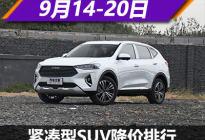 哈弗F7降2.50万元 紧凑型SUV降价排行