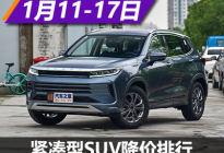 哈弗H6降3.30万元 紧凑型SUV降价排行