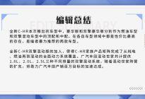 推荐两款豪华版车型,广汽丰田全新C-HR购车手册