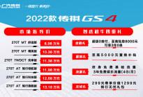10万级SUV增配不加价,2022款传祺GS4焕新上市,指导价 8.98-13.18万元!