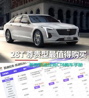 28T 尊贵型最值得购买 新款凯迪拉克CT6购车手册