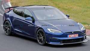 特斯拉全新高性能Model S在纽北曝光